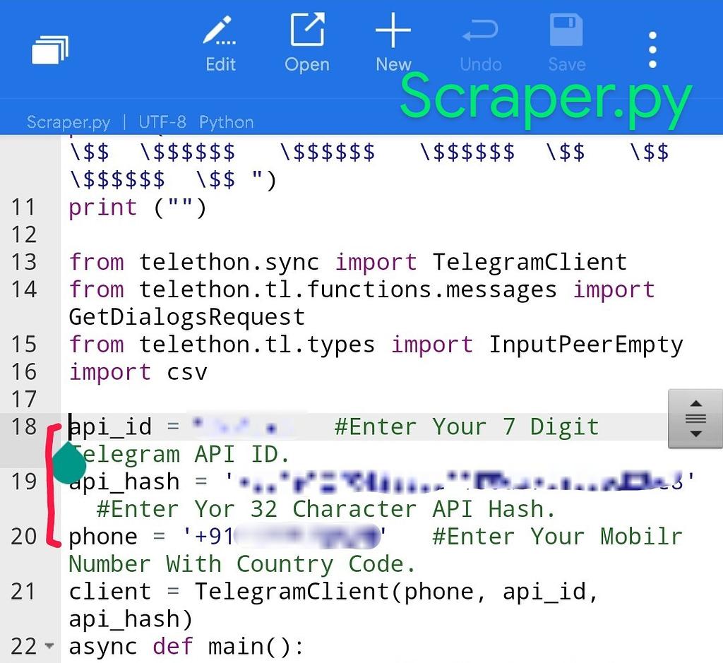 Telegram scraper to get telegram members
