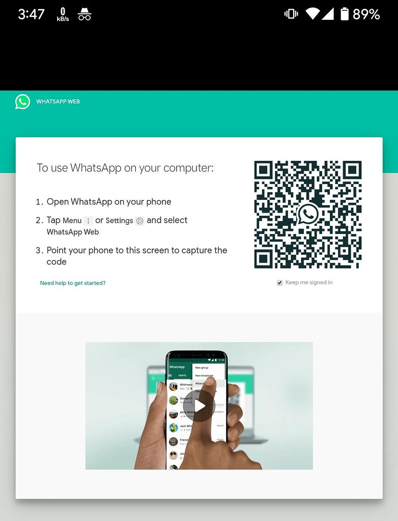Whatsapp web online web.whatsapp