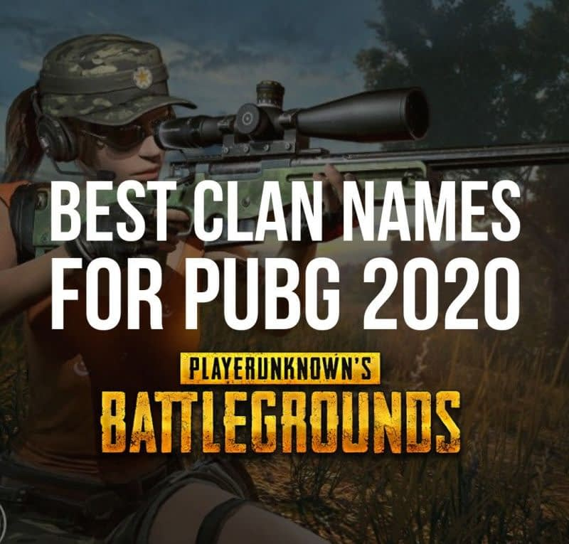 best pubg clan names